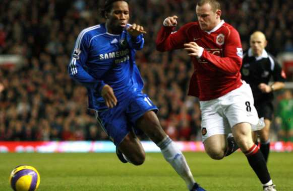 Rooney charrie Drogba