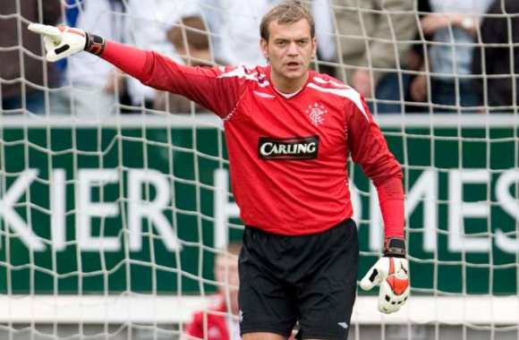 Roy Carroll, époque Glasgow Rangers, en 2007