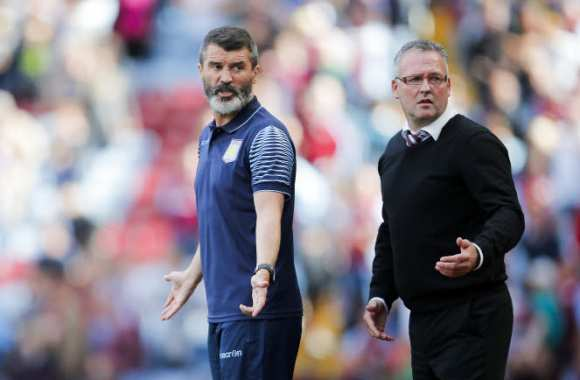 Roy Keane et Paul Lambert, coachant pour Aston Villa