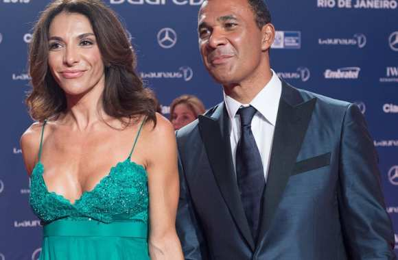 Ruud Gullit avec madame à la cérémonie Laureus World Sports Awards 2013