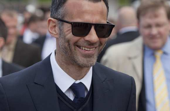 Ryan Giggs à la course hippique