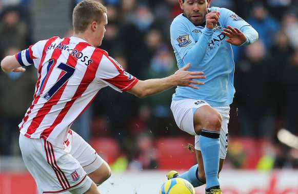 Ryan Shawcross (Stoke) vs Carlos Tevez (Manchester City)