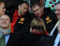 Ryan Giggs et son coach adjoint Paul Scholes