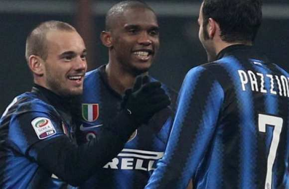 Sneijder, Eto'o et Pazzini. (Photo : www.corrieredellosport.it)