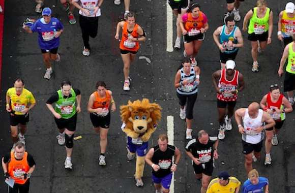 Stamford the Lion au marathon