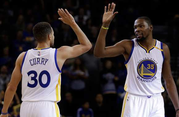 Steph Curry et Kevin Durant.