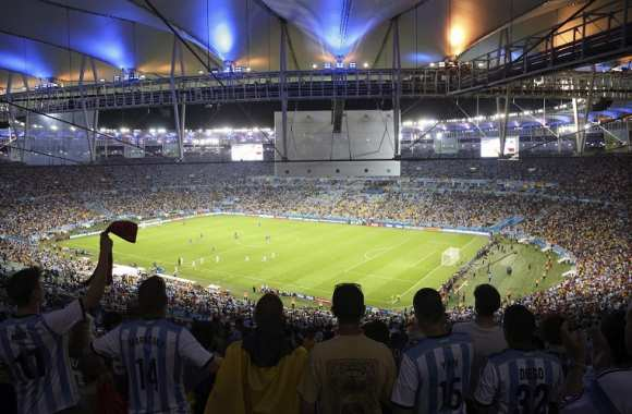 Supporters argentins au Maracana