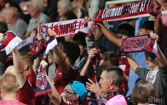 Supporters clermontois (crédit : Clermont-Foot 63)