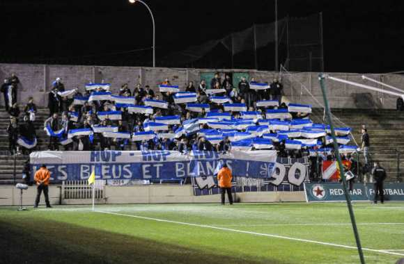 Supporters strasbourgeois au Stade Bauer