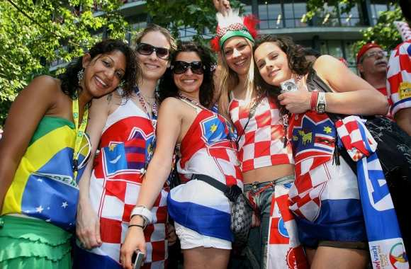 Supportrices croates au Mondial 2002