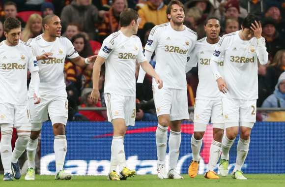 Swansea a remporté hier la League Cup