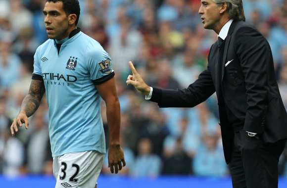 Tevez et Mancini, en grande discussion tactique