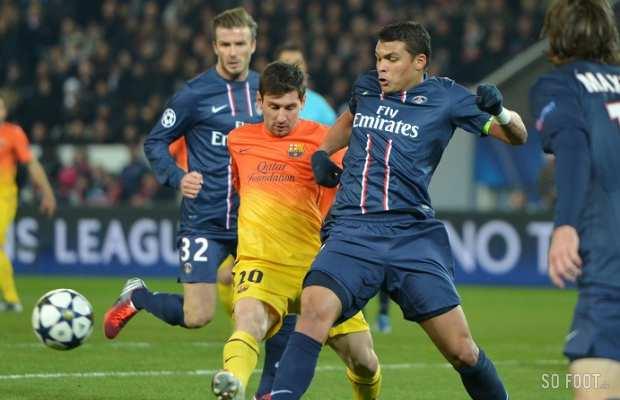 PSG threaten to trigger Messis £215m release clause if Barca pursue Thiago Silva