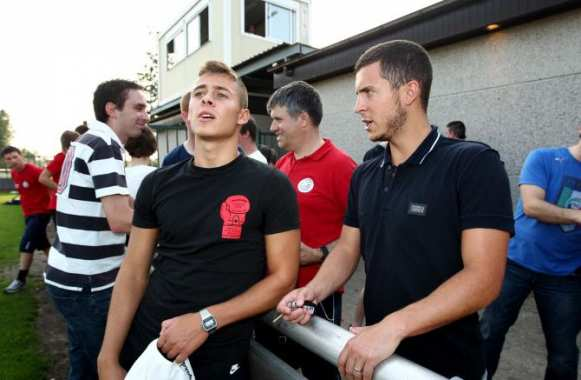 Thorgan et Eden Hazard