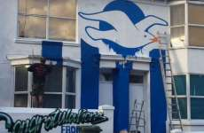 Un supporter de Brighton repeint sa maison