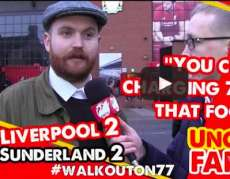 Un supporter descend Liverpool à la tv