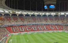 Un tifo du Dinamo pour le match du Steaua contre City
