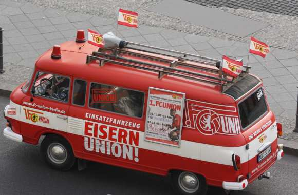 Union Berlin, <i>by bus</i>.