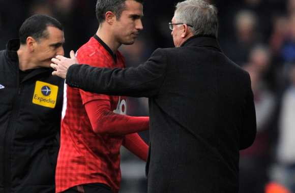 Van Persie et Sir Alex (Manchester United)