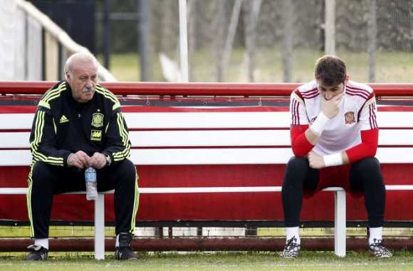 Vicente Del Bosque et Iker Casillas