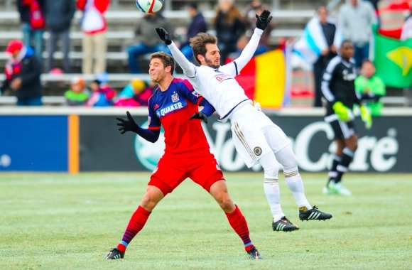 Vincent Nogueira lors d'un match entre Philadelphia Union et Chicago Fire