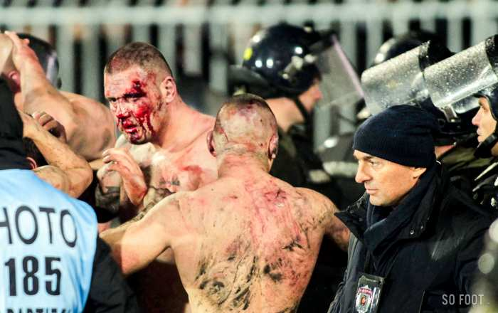 Violents affrontements entre supporters du Partizan lors du derby de Belgrade