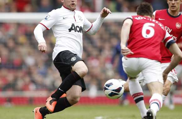 Wayne Rooney (Manchester United) face à Laurent Koscielny (Arsenal)
