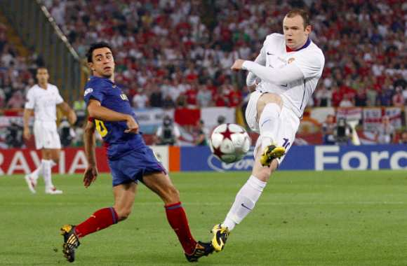 Xavi et le positionnement de Rooney