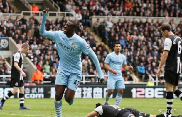 Yaya Tour�, auteur du troisi�me but de Manchester City � Newcastle
