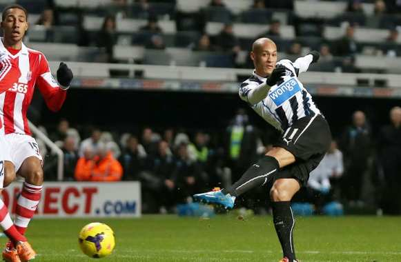 Yoan Gouffran (Newcastle) face à Stoke City